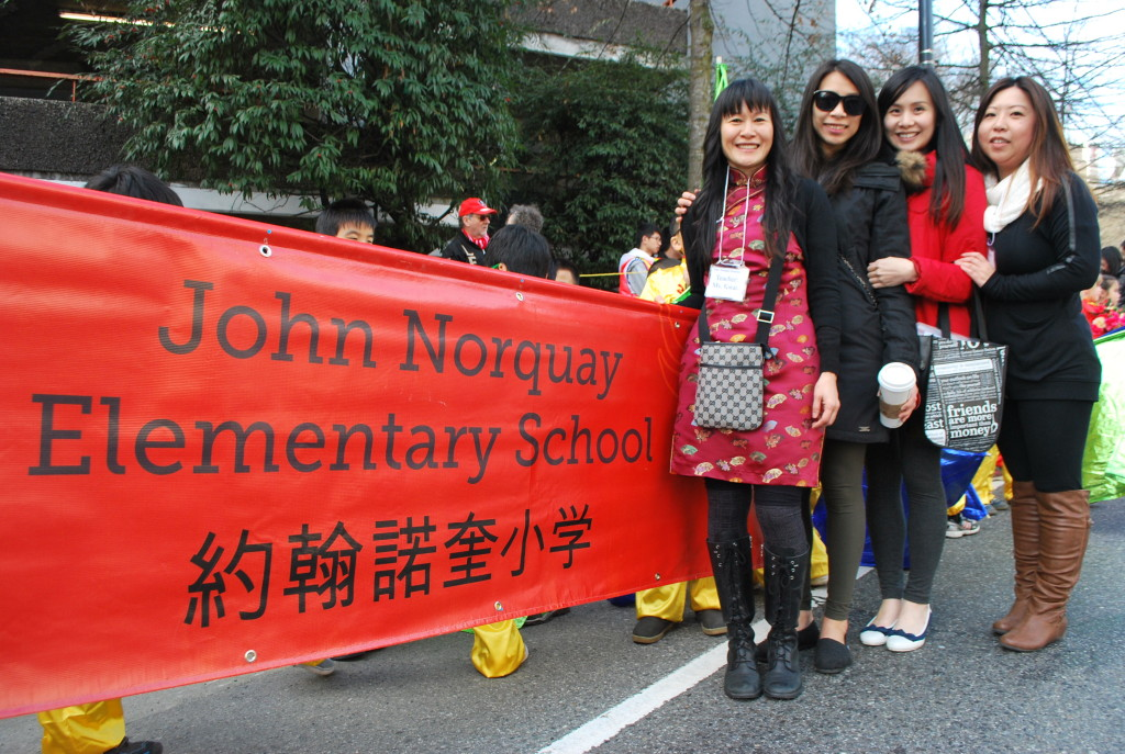 Teachers at the Chinese New Year parade